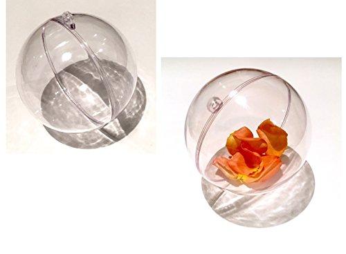 CRYSTAL KING 5 Stück Acrylkugeln 10cm Durchmesser zum Aufhängen Bastelkugel transparente Kunststoff Kugel zum Befüllen Gartenkugel Dekokugel Acryl Kugel