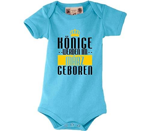 Shirtstown Dulce Body Bebé Reyes Werden Im März Nacido - Azul Claro, 0-6Monate