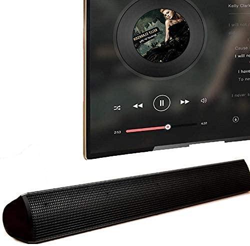 Altavoz, Bluetooth Barra de sonido para Tv con Despertador Portátil Doble Premium Estéreo de Cinema Altavoces para Ordenador Mini Home Theater Barra de Sonido