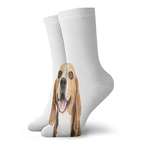 Compression Socks Women and Men Happy Dog Gazing To Camera Furry Friend Paw Pet Lover Photo Socks Best for Circulation,Medical,Running,Athletic,Nurse,Travel