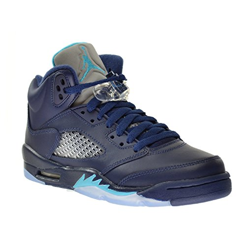 Nike Jungen Air Jordan 5 Retro BG Turnschuhe, Azul/Blanco (Midnight Navy/Trqs Blue-White), 36 1/2 EU