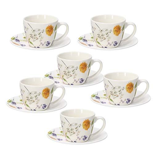 Tognana Audrey, Set 6 tazze caffè con piatto