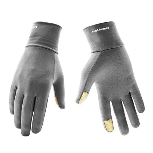 WAVENI Winter Outdoor Kältebeständige, Flexible Touchscreen-Handschuhe für Tastatur und Maus (Color : Grey)