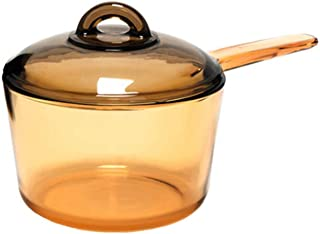 Luminarc Amberline Blooming Heat-resistant Glass Cooking Saucepan Pot Deep Style 1.5L (Slight imperfection on handle)