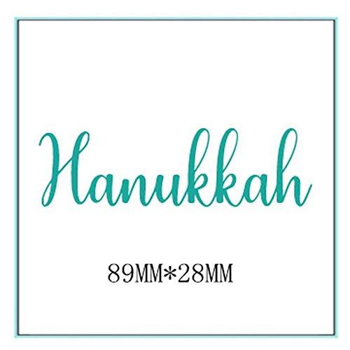 Hanukkah Word Die Cuts For Card Making Word Hanukkah dies scrapbooking metal cutting dies new