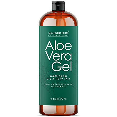 Majestic Pure Majestic Pure Aloe Vera Gel - From Pure and Natural Cold Pressed Aloe Vera, (Packaging May Vary) - 16 fl oz