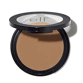 e.l.f Primer-infused Bronzer Long-Wear Matte Bold Lightweight Blends Easily Contours Cheeks Forever Sun Kissed All-Day Wear 0.35 Oz