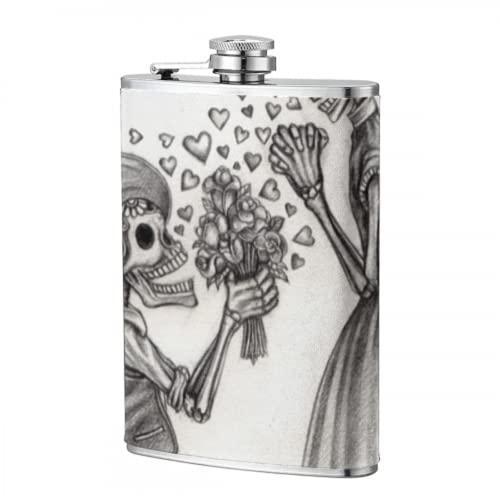 Frasco de 8 oz Botellas de agua Resumen Dead Of Day Skull...