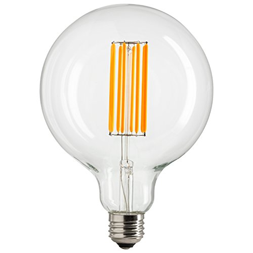Sunlite 80467 LED G40 Filament Light Bulb, 8-Watt (100W Equivalent), Dimmable Globe Lightbulb, 1 Pack, 22K - Warm White