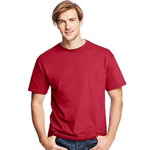 Hanes by Men's Tagless ComfortSoft Crewneck T-Shirt_Deep Red_3XL
