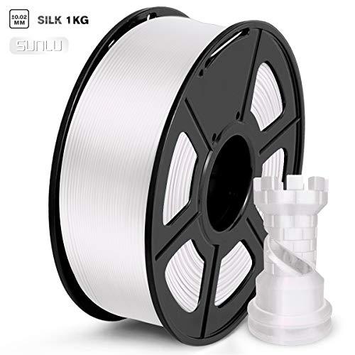 SUNLU Filamento PLA 1.75mm Silk Blanco
