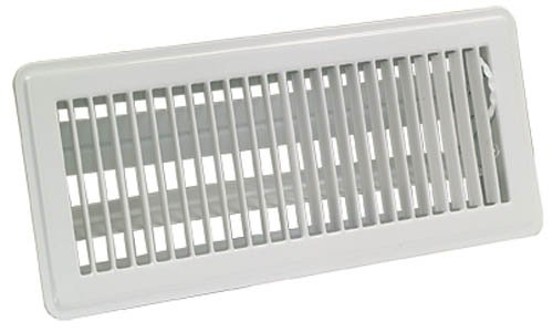 EZ-FLO 61638 Floor Register Diffuser, 6 inch x 12 inch Opening, White