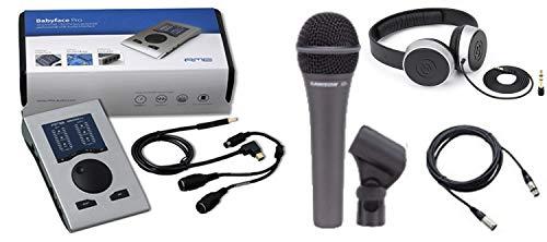RME Babyface Pro 24-Kanal mobiles USB 2.0 High-Speed Audio Interface und Tasche, Mikrofon, Kabel und Kopfhörer Bundle