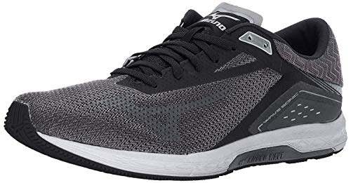Mizuno Running Men's Wave Sonic Running Shoes, Black/Dark Shadow/Silver, 11.5 D US