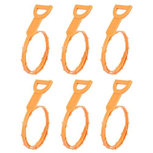 DOITOOL 6 x Abflussschlange, Haarabfluss-Entferner, Abflussreiniger, Abfluss-Werkzeug, biegbare lange Kunststoffhaken.