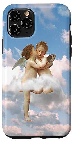 iPhone 11 Pro Angel Aesthetic Renaissance Pattern Design Romantic Phone Case