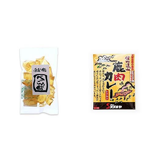 [2点セット] べっこう飴(160g)・信州遠山 鹿肉カレー 中辛 (1食分)