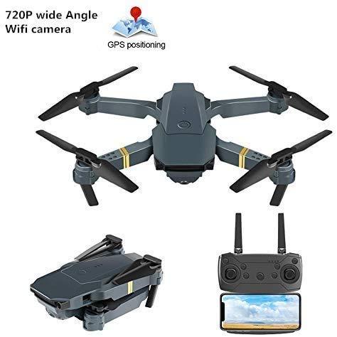 achievr Drone Pieghevole con Videocamera HD 4k / 1080P / 720P, Quadricottero RC con Presa di Altitudine, Drone RC Senza Testa Telecomando Velivolo WiFi in Diretta Fotografia Aerea Volante