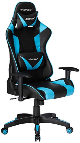 Merax Enlarged Racing Home Office Computer Chair (Blue)