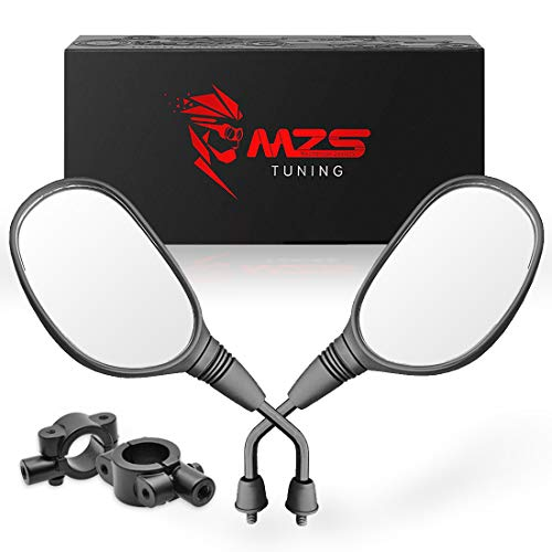 MZS ATV Mirrors Rear View 7/8 Handlebar Mount Compatible with Arctic Cat Can-am Honda Kymco Kawasaki KTM Suzuki Polaris Yamaha ATV's Motorcycle Scooter Moped Dirt Quad Bike Bicycle Cruiser Snowmobile