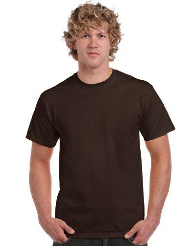 Gildan Gildan Herren Heavy Cotton Tee T-Shirt, Braun (dunkle Schokolade), XXL