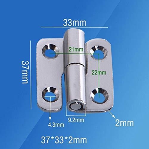 1,5/2 / 2,5 Inch RVS 304 Shape Afneembare Scharnier, For Aluminium Deuren Badkamer Hek Badkamer Verwisselbare Meubelscharnieren Looplengte 40mm (Color : 2.5 inch right)