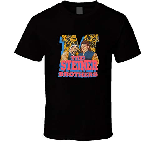 FUBAO The Steiner Brothers Retro Wrestling T-Shirt schwarz Gr. XL, Schwarz