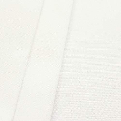 STOFFKONTOR Markisenstoff Outdoorstoff Breite 320 cm Meterware Perl-Weiss