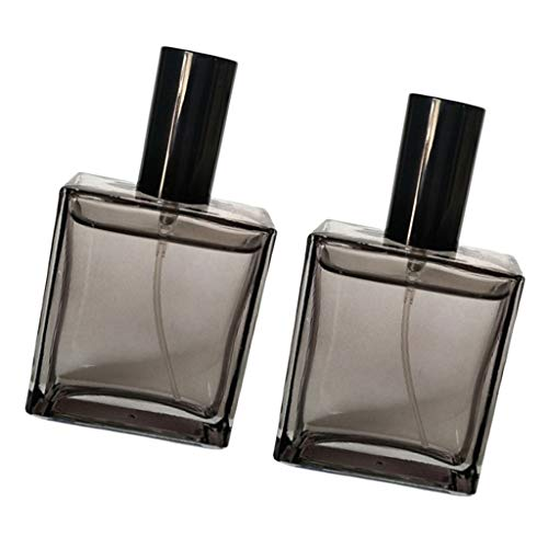 lahomia 2x Leak-proof Perfume Bottles Refillable Spray Containers for Men