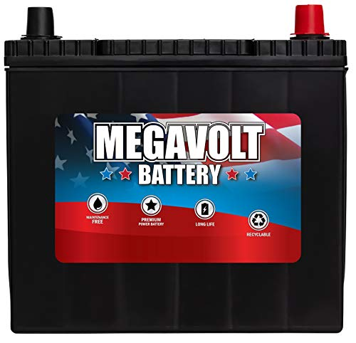 Megavolt Lead Acid Flooded Car Battery BCI 51R, 12V 55AH CCA500 CA525 (51R-60-500)