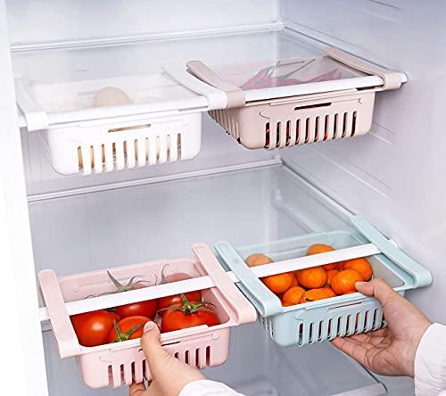 Deals - Cajón organizador de cocina para frigorífico, juego de 2