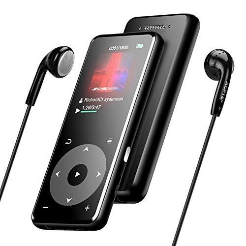 MP3プレーヤー AGPTEK Bluetooth5.0 mp3プレイヤー 超軽量 ウォークマン HIFI超高音質 スピーカー搭載 SDカード対応 光るタッチパネル デジタルオーディオプレーヤー 録音対応 歩数計 FMラジオ 小型 内蔵8GB 最大128GBまで拡張可能