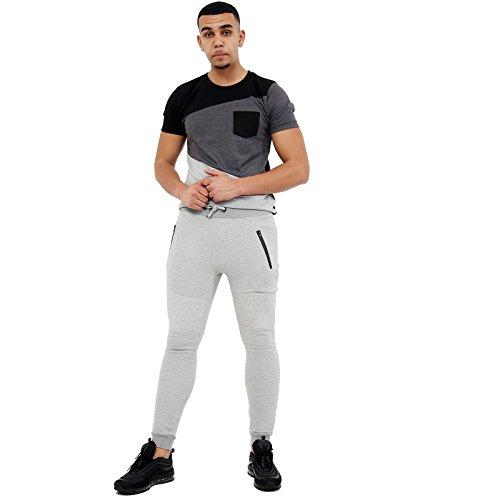 Krijg de Trend Skinny Joggers Slim Pique Fit Broek Trainingspak Joggen Bodem Zweet Broek Stretch Bottoms Sweats