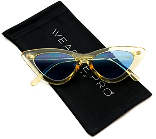 WearMe Pro - Retro Vintage Tinted Lens Cat Eye Sunglasses