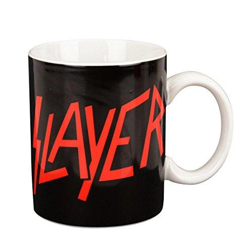 Close Up Slayer Tasse Logo - weiß, Bedruckt, aus Keramik, Fassungsvermögen 350 ml, in Geschenkbox.