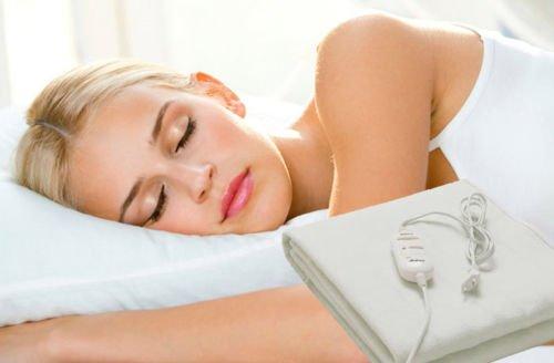 Manta electrica Kenex calienta cama 1 plaza 150x70cm lavable control temperatura