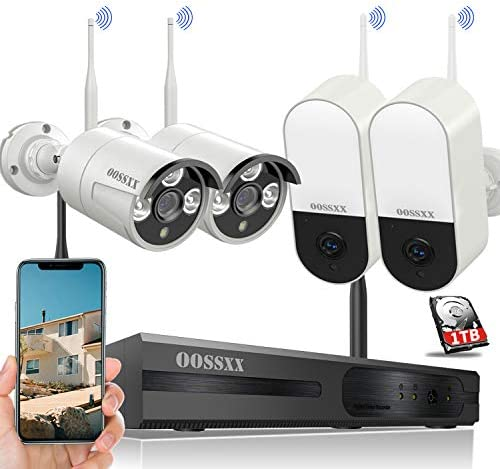 30 Days Storage Expandable 8CH Wireless NVR Security Camera System Outdoor with Hard Drive Wireless product image
