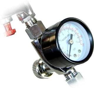 TCP Global Brand Air Adjusting Valve Regulator with Gauge for Spray Guns and Pnuematic Tools (1/4