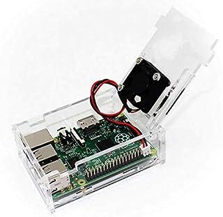 جراب راسبيري لهاتف بي 3 موديل B + جراب شفاف من الأكريليك طراز بي 3 طراز بي متوافق فقط مع تركيب المروحة