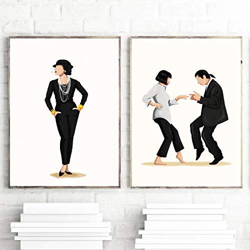 Fun Pop Dancing Music Poster The Future is Female Print Girlboss for Her Fashion Film Art Feminism Wall Picture for Bedroom-(50x70cm)2pcs Frameless