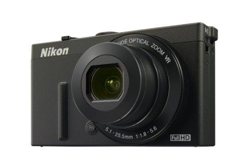 Nikon Coolpix P340 Digitalkamera (12 Megapixel, 5-Fach optischer Weitwinkel-Zoom, 7,5 cm (3 Zoll) RGBW-LCD-Monitor, 5-Achsen-Bildstabilisator (VR), Dynamic Fine Zoom, Wi-Fi) schwarz