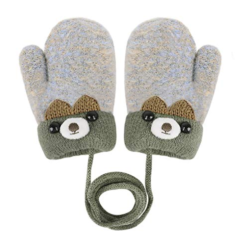 Knitted Wool Gloves Winter Warm ...