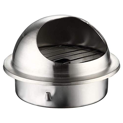 Find Cheap LTLSF Wall-Mountable Brushed Stainless Steel Round Bull-Nose Vent with Louvres Indoor & O...