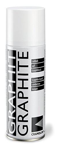 GRAPHIT 200 ml Spraydose - Leitlack auf Graphitbasis - ITW Cramolin - 1281411, inkl. 1 St. DEWEPRO® SingleScrubs