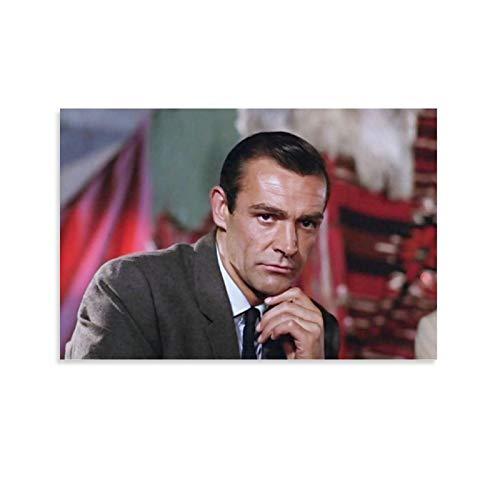 SSKJTC Pintura Decoración del Hogar Decoración Obra de Arte Sean Connery de Rusia con Amor 1963 Clásico Nostálgico Película Clip 007 Pose Pose Póster Decoración de pared 60 x 90 cm