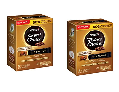 Nescafe Taster's Choice Instant Coffee Hazlenut, Pack of 2