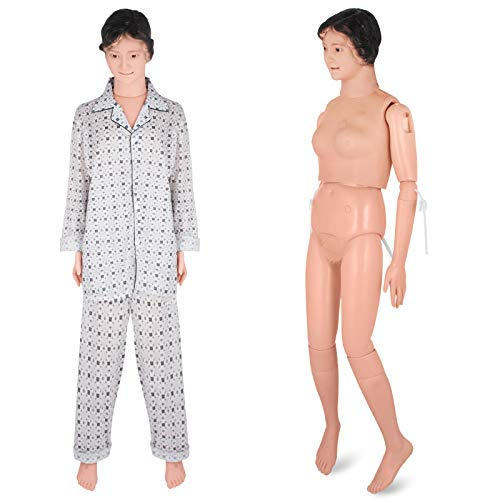 VEVOR Manikin for The Cure of The Patient Didactic Material in PVC Medical Training Teaching Manikin Model Woman for Teaching at School of Nursing Medicine