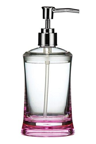 Premier Housewares - Dispensador de jabón líquido (acrílico), Color Rosa y Transparente