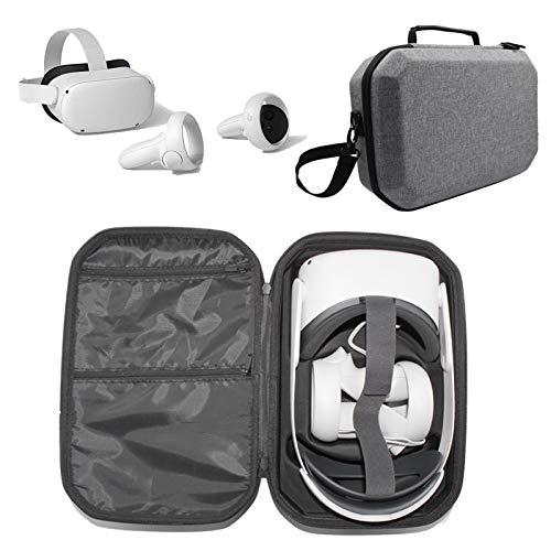 Eva - Funda protectora para Oculus Quest 2 (rígida, con correa para el hombro, para auriculares 3D de realidad virtual), color gris