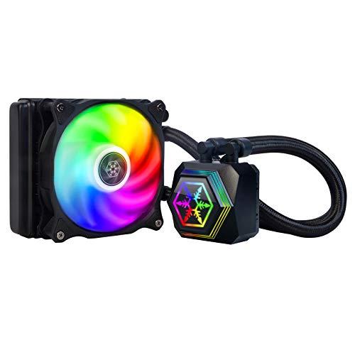 SilverStone SST-TD02-RGB -Tundra Premium AIO CPU Liquid Cooler, SST-PF120-ARGB 120mm